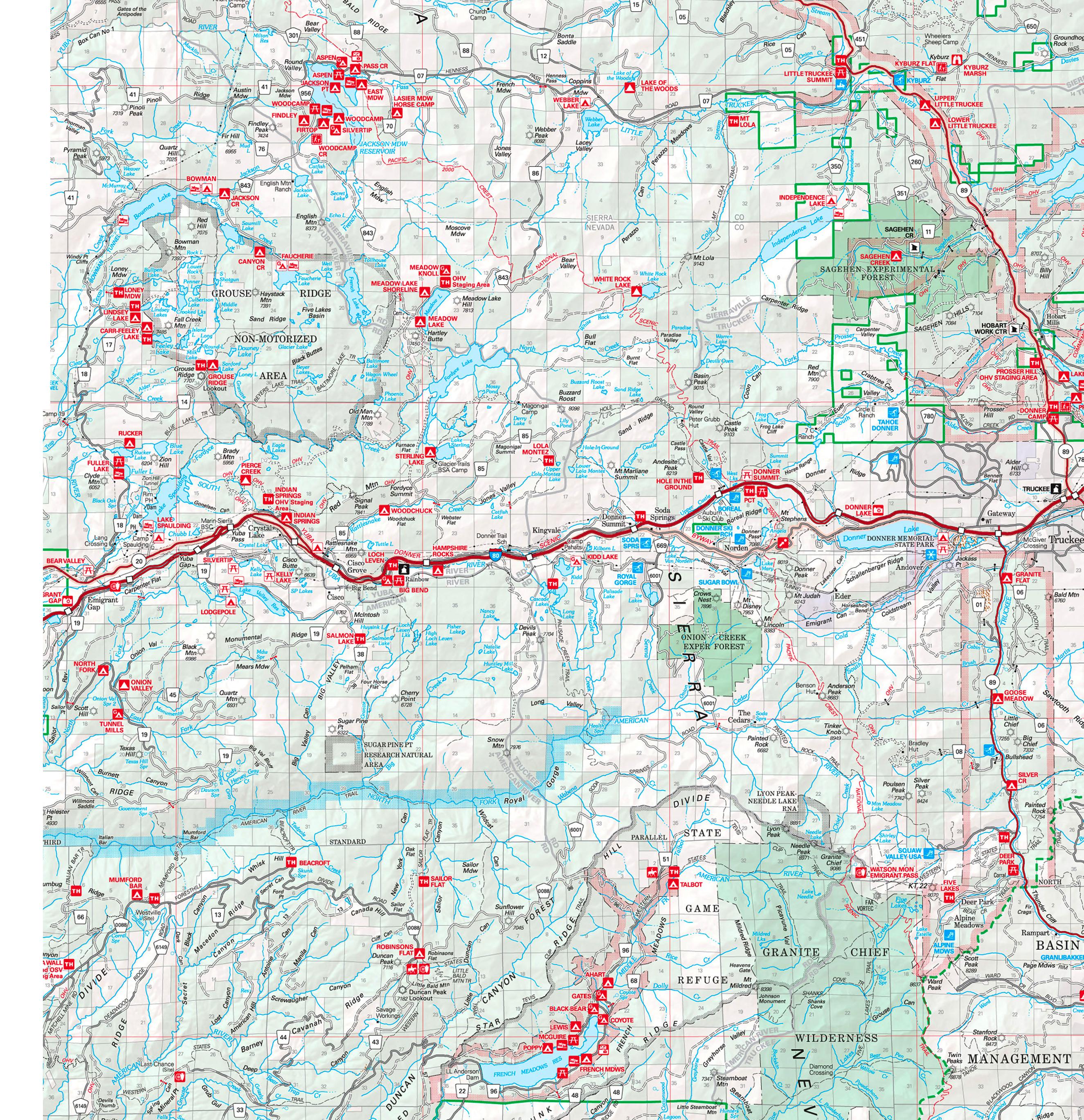 Lake Tahoe West Shore Information - North lake tahoe map