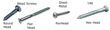 Screws Wood Sheet Metal