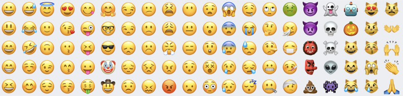 Iphone Vs Android Emojis Chart