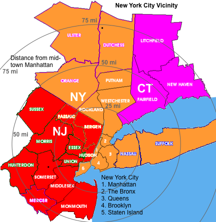Large New York Metropolitan Area Map Pictures To Pin On