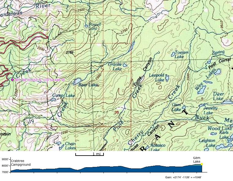 Gem Lake - Emigrant Wilderness