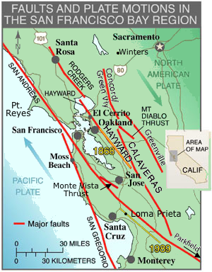 Fault Zones Northern California