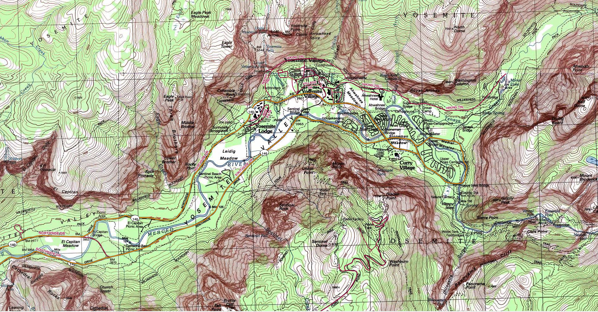 Yosemite yosemite valley topo publicscrutiny Choice Image
