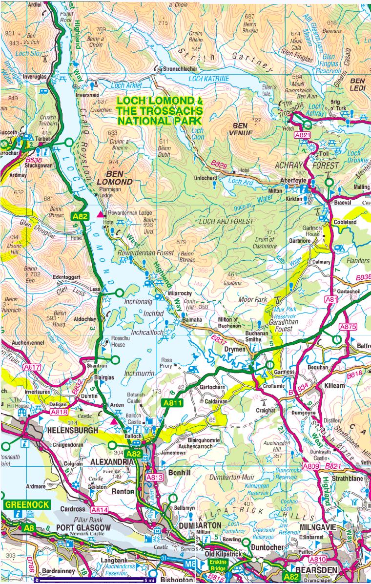 Fort Williams Scotland Map.West Highland Way