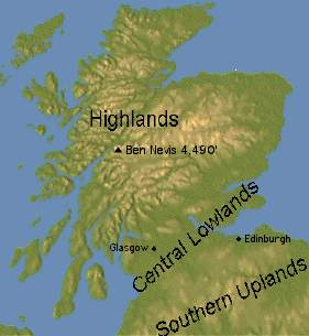 Scotland Maps - Central lowlands map