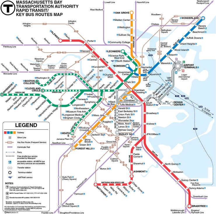 Boston Ma Subway Map