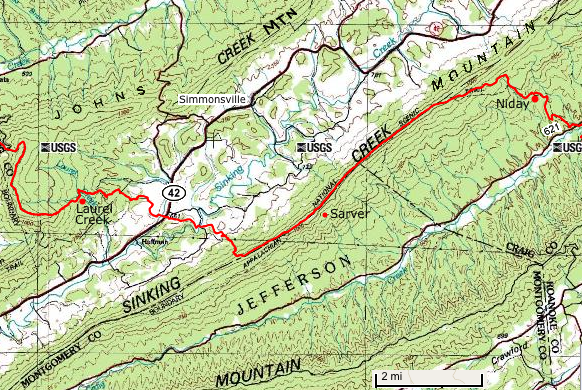 Sierra Club AT Outings - Appalachian trail shelters map