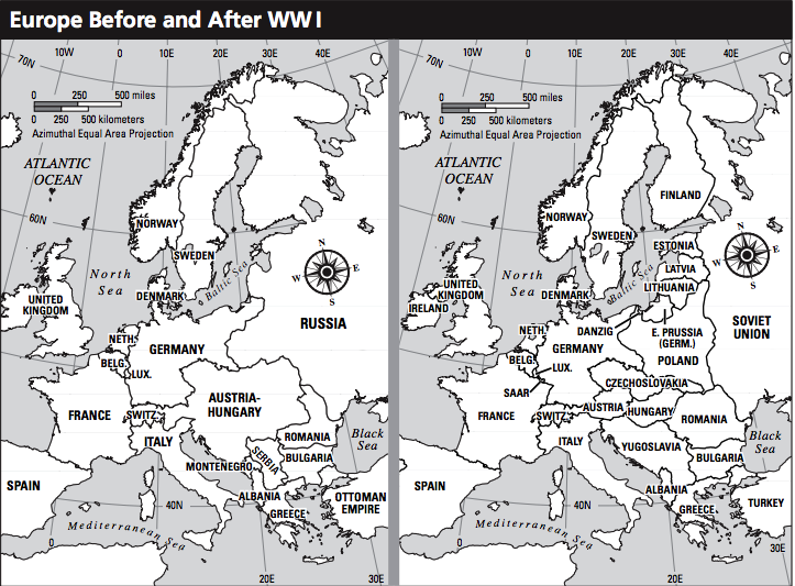 Remapping Europe And The Middle East After World War I