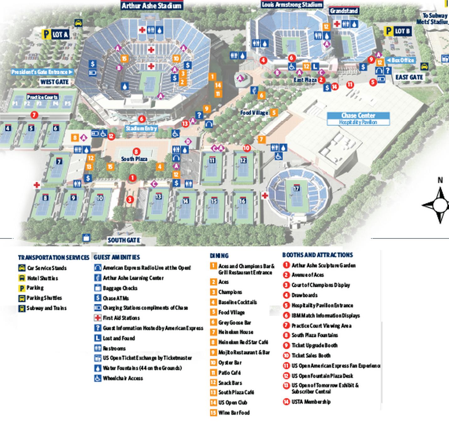 Us Open Tennis Complex Map Flushing, Queens