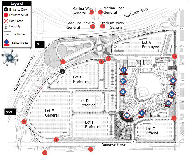 Citi Field Parking Map Flushing, Queens