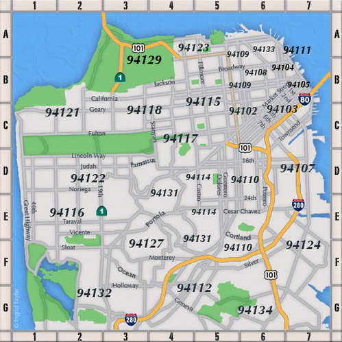 Zip Code Map San Francisco Ca | Zip Code MAP