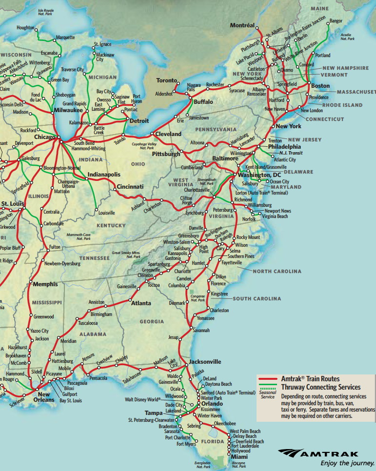 Amtrak Route Map North East   New England Amtrak Route Map Amtrak Route Map